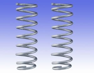Suspension spring kit for BMW X6 (F16) with self-levelling system