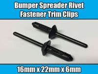 10x Clips For Ford GM Bumper Spreader Rivet Fastener Trim Black Plastic N804189S