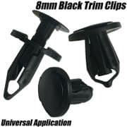 10x Clips For Ford Transit C-Max Door Card Fascia Trim Panel Fastener Black
