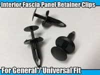 20x Interior Fascia Panel Retainer Push-Type Fastener Rivet Trim Clips For Ford