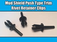 20x Mud Shield Clips For VW AUDI Push Type Trim Rivets Retainer C15 16186729901C