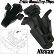 2x UPPER GRILLE MOULDING FIXING CLIPS FOR NISSAN NV200 FX35 CUBE PATHFINDER