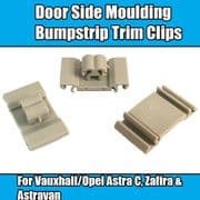 5x Clips For Vauxhall Astra G Zafira A Door Side Moulding Bumpstrip Trim Clips
