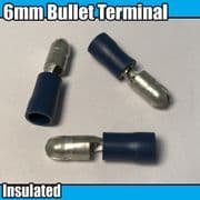 Blue Bullet Terminals 6mm Insulated Wire Cable Copper Connector Crimp Electrical