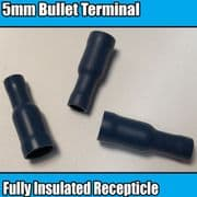 Blue Bullet Tube Insulated Electrical Splice Crimp 5mm Terminals Cable Wire
