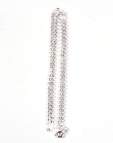 1 x Silver Plated Trace Ready to Wear chain with bolt ring clasp
