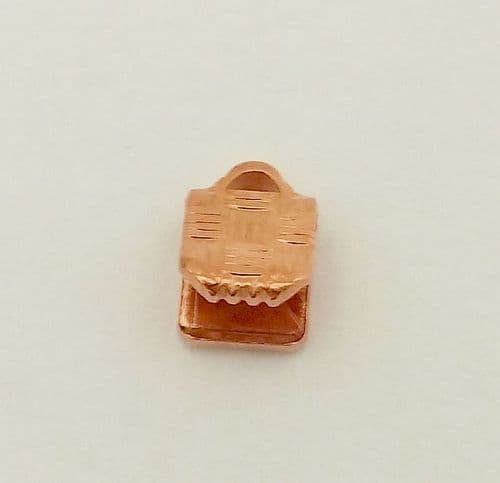 10 x Gold Plated 5mm Flat Ribbon Ends