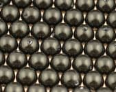 12mm SWAROVSKI Dark Green Crystal Pearl Beads - 6 pearls