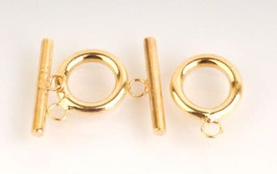 2 x Gold Plated Toggles Clasp & Bar