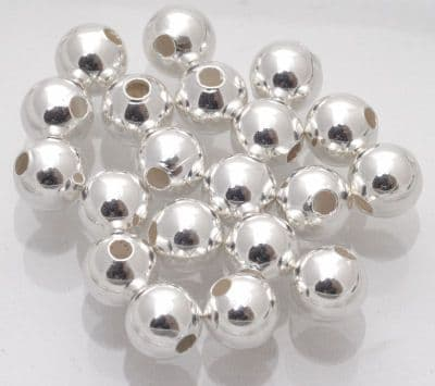 20 x Silver Plated 6mm Spacer Beads