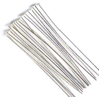 """50 x Silver Plated 50mm (2"""") Thick Soft Headpins"""