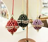 Beadwork SuperDuo Bauble Christmas Decoration Kit Dark Green