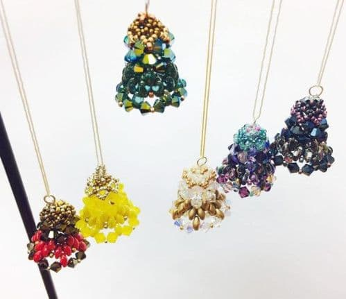 Design your own colours - Christmas Bell Beading Kit with SWAROVSKI elements