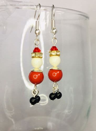 Father Christmas Earrings Kit with SWAROVSKI® ELEMENTS