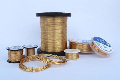 Gold/Gilt Plated 0.5mm,  15 metres Craft Wire Coil