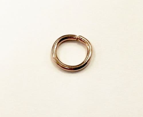 Gold Plated 8.8mm jump rings - 50* x jump rings for jewellery making, beadwork and craft projects