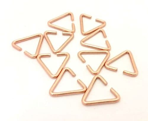 HALF PRICE! Rose Gold Colour 13.7mm Triangle Bails x 10