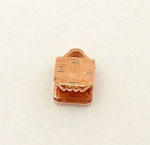 HALF PRICE! Rose Gold Colour 5mm Ribbon Ends x 10