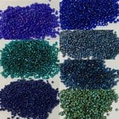 Miyuki Delica Beads Size 11 JUST DELICA 7 Colours collection BLUE TONES