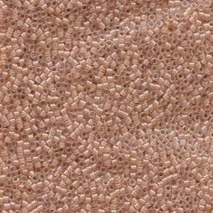 Miyuki Delica Seed Beads Size 11° Lined Beige AB 5 grams approx