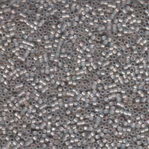 Miyuki Delica Seed Beads Size 11 Silver Lined Taupe Opal 5 grams