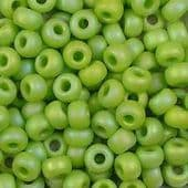 Miyuki Seed Beads Size 8 Matte Opaque Chartreuse AB 10 grams