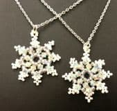 Snowflake Crystal Beadwork Earring Kit with SWAROVSKI