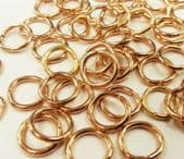 Wholesale Quantity Gold Plated 8.8mm Jump Rings (Save 20%) - 500* jump rings