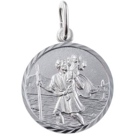 Silver Saint Christopher Pendant - 14mm