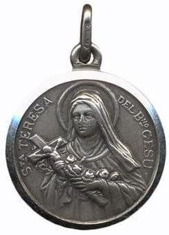 St Theresa Medal Silver 18mm