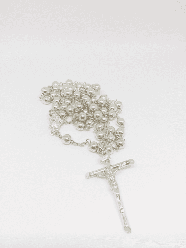 Sterling Silver 6mm Bead Rosary