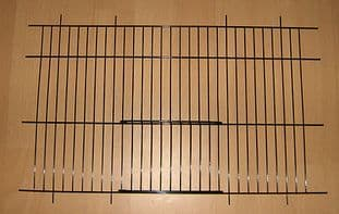 """2 x BLACK CANARY / PARAKEET CAGE / CARRY UNI CAGE FRONTS 16"""" x 10"""" - WADES"""