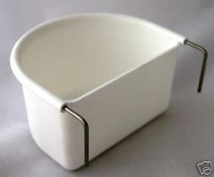 2 x GIANT / LARGE WHITE D CUP FEEDERS