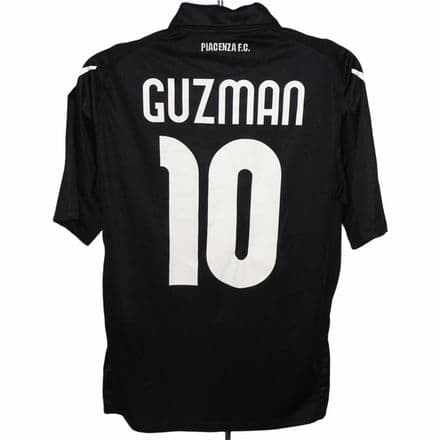 2010-11 Piacenza Away Match Issued Football Shirt #10 Guzman Macron Large (Excellent)