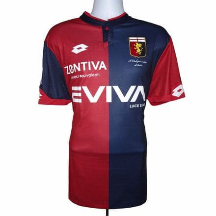 2017-2018 Genoa Match Issue Home Football Shirt #20 Rosi Lotto UK XL (Excellent)