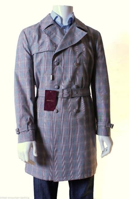 HOLLAND ESQUIRE HAND CUSTOMISED Trench Coat Mac XL BNWT