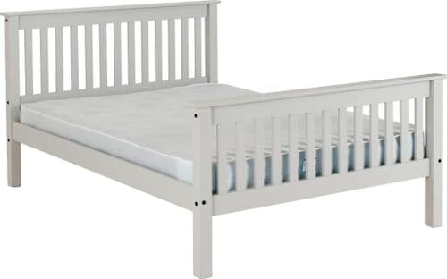 Doyle Double Bed Grey High