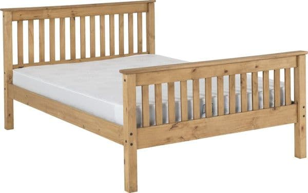 Doyle King Size Bed High Distressed
