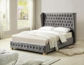 Anderton Double Bed, Velvet
