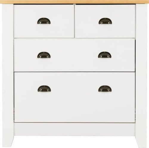 Classic 4 Chest of Drawers, White or Grey