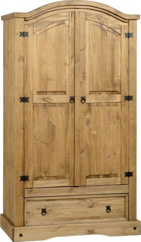 Corin 2 Door 1 Drawer Wardrobe