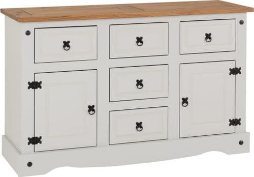 Corin 5 Drawer Sideboard, Grey