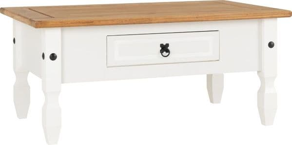 Corin White Coffee Table