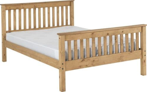 Doyle Double Bed Pine, High Foot end