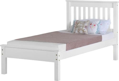 Doyle Single Bed White Low Foot