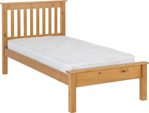 Doyle Single Pine Bed, Low Foot end