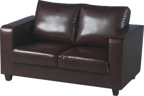 Els Two Seat Leather Loveseat