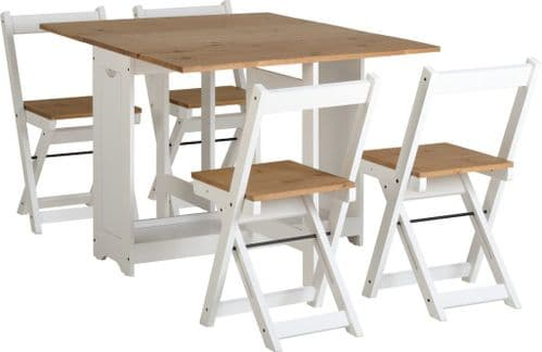Emilia White Butterfly Dining Set