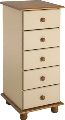 Heirloom  5 Drawer Narrow Chest