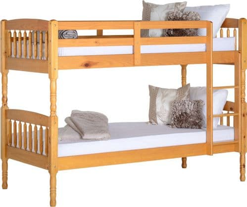 Heirloom Pine Single Bunk Beds